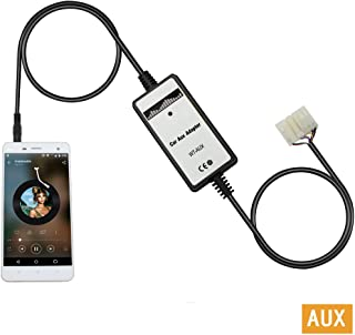 Yomikoo Aux Adapter, Car Stereo CD Changer AUX 3.5mm Interface Adapter for Toyota 5+7 Pin 1998-2002 Corolla,1998-2002 Land Cruiser,1998-2004 Avalon,1998-2003 Highlander,1998-2004 Camry