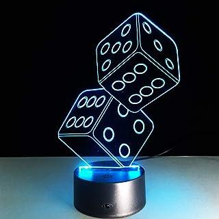 wangZJ Luces visuales 3d Luces nocturnas del dormitorio 7 Luces de ilusión de cambio de color Regalos de Halloween Regalos...