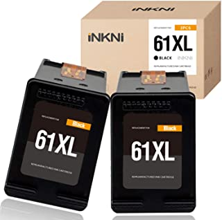 INKNI Remanufactured Ink Cartridge Replacement for HP 61XL 61 XL for HP Envy 4500 5530 5534 5535 Deskjet 1000 1010 1510 1512 2540 3050 3510 3050A OfficeJet 2620 4630 4635 (Black,2-Pack)