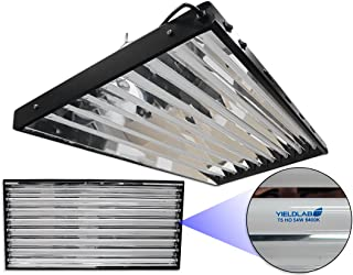 Yield Lab 54w T5 Eight Bulb Fluorescent Grow Light Panel (6400K) – Hydroponic, Aeroponic, Horticulture Growing Equipment