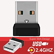 USB Unify Receiver, DDSKY 2-Pack 2.4GHz Wireless USB Unify Receiver for Mouse and Keyboard, Compatible with Logitech, Easy to Operate for Up to 6 Devices