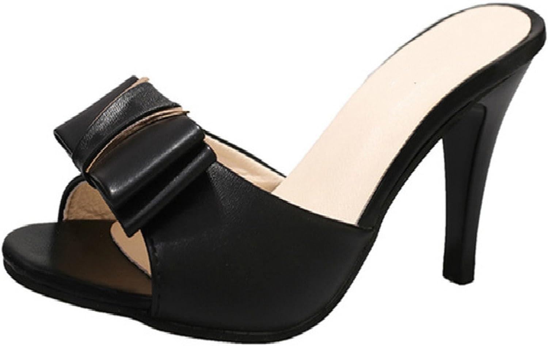 Dearlly Women High Heel Sandals Open Toe shoes Fashion Slippers Bowtie Platform shoes Woman Daily Sexy Leisure Footwear Heels 8.5Cm