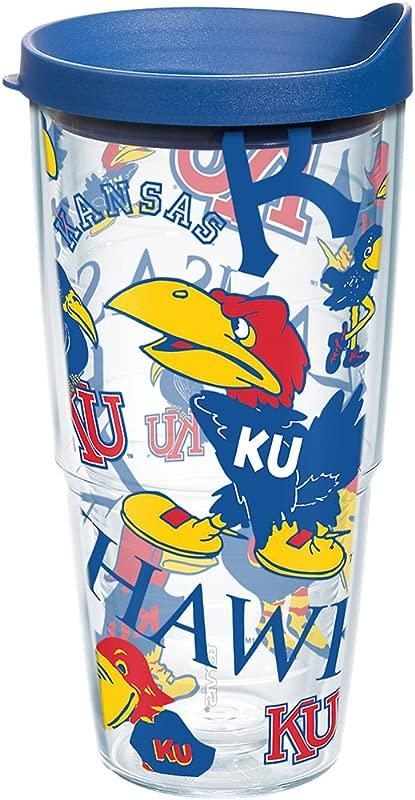 Tervis 1262597 NCAA Kansas Jayhawks All Over Tumbler 24 Oz Clear