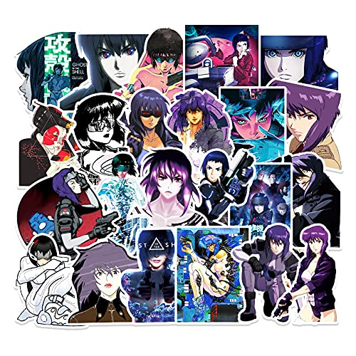 WYZNB 51 unids Ghost in Anime The Shell Sticker desmontable Trolley Case Notebook Car impermeable extraíble vinilo graffiti DIY