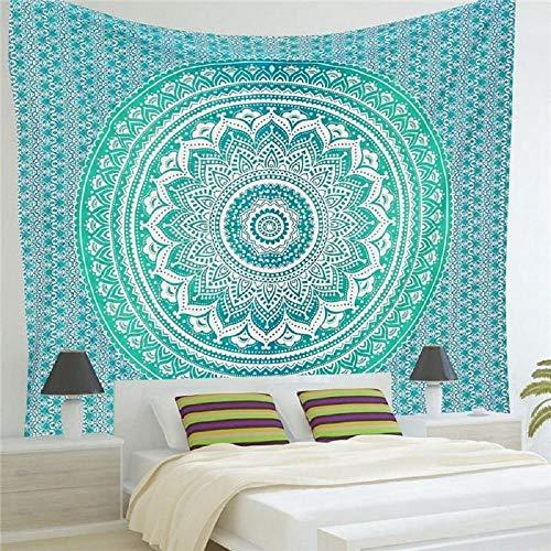 Tapiz cuadrado de mandala bohemio para colgar en la pared, alfombra de playa de arena, alfombra, manta, tienda de campaña, colchón de viaje, almohadilla para dormir 150X200CM