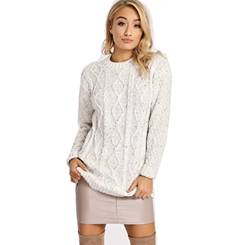 36ad2c90827 Womens Cream Cable Knit Jumpers: Amazon.co.uk