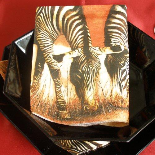 Tovagliolo confezione con 20 pezzi, 1/4 33 x 33 cm, zebre