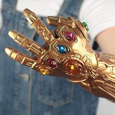 FANREK Kids Infinity Gauntlet Gems Removable Lights Up Thanos Left Arm Gloves Toys