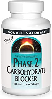 SOURCE NATURALS Phase 2 Carbohydrate Blocker 500 Mg Tablet, 120 Count