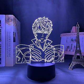 3D الوهم مصباح الجدول المزاج ليلة ضوء واحد لكمة رجل لغرفة النوم الديكور أنيمي للرجال عيد ميلاد الحاضر -16 لونا مع جهاز الت...