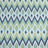 Blau & Grün gemustert führenden Marke 100% Baumwolle Fat