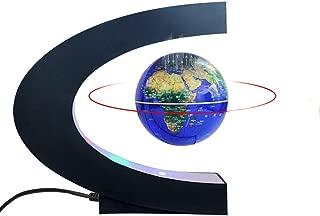 """Magnetic Levitation Floating World Map Globe with C Shape Base, 3"""" Rotating Planet.."""
