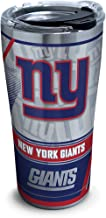 Tervis NFL New York Giants Edge Stainless Steel Tumbler with Clear and Black Hammer Lid 20oz, Silver
