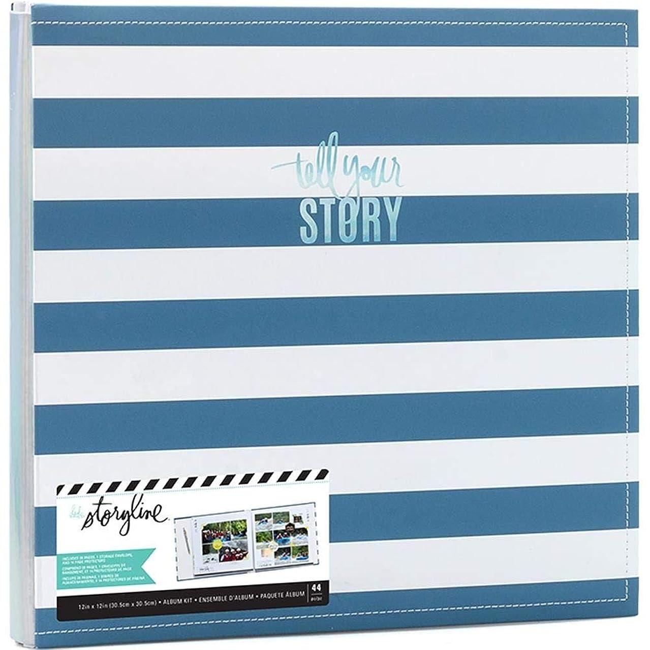 Heidi Swapp Blue Stripe Album Multicolor