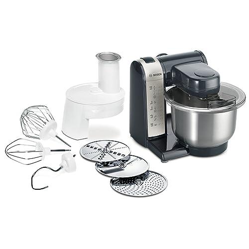 Bosch MUM48A1 Robot culinaire 600 W Bol mélangeur inox Râpeur/éminceur DVD de recettes interactif (Import Allemagne)