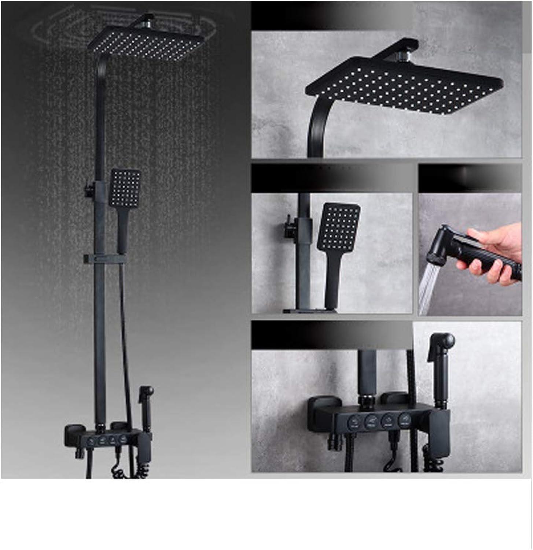 Duschset, Lift-Typ Supercharger Dusche, Multifunktions-Dusche, verstellbare Temperaturregelung, Badezimmerdusche, Bidetdusche, groe Sprinkler, Handbrause Set