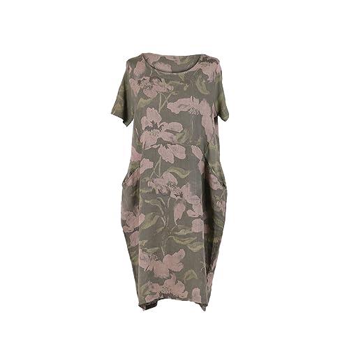 141df7f7ad LushStyleUK New Ladies Italian Floral Print Linen Dress Women Lagenlook  Dress Plus Sizes