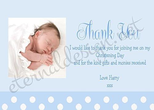 Web oficial Tarjetas de de de agradecimiento personalizables con Diseño de Eternal para bautizo CDTY 3  buen precio