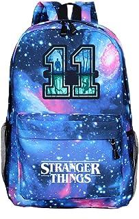 Mochila Stranger Things Niña, Mochila Stranger Things Escolar Adolescente Chicas Primaria Mochilas y Bolsas Escolares Impresión 3D Juvenil Niños Bolsa Infantil Series de Televisión (Estrella azul3)