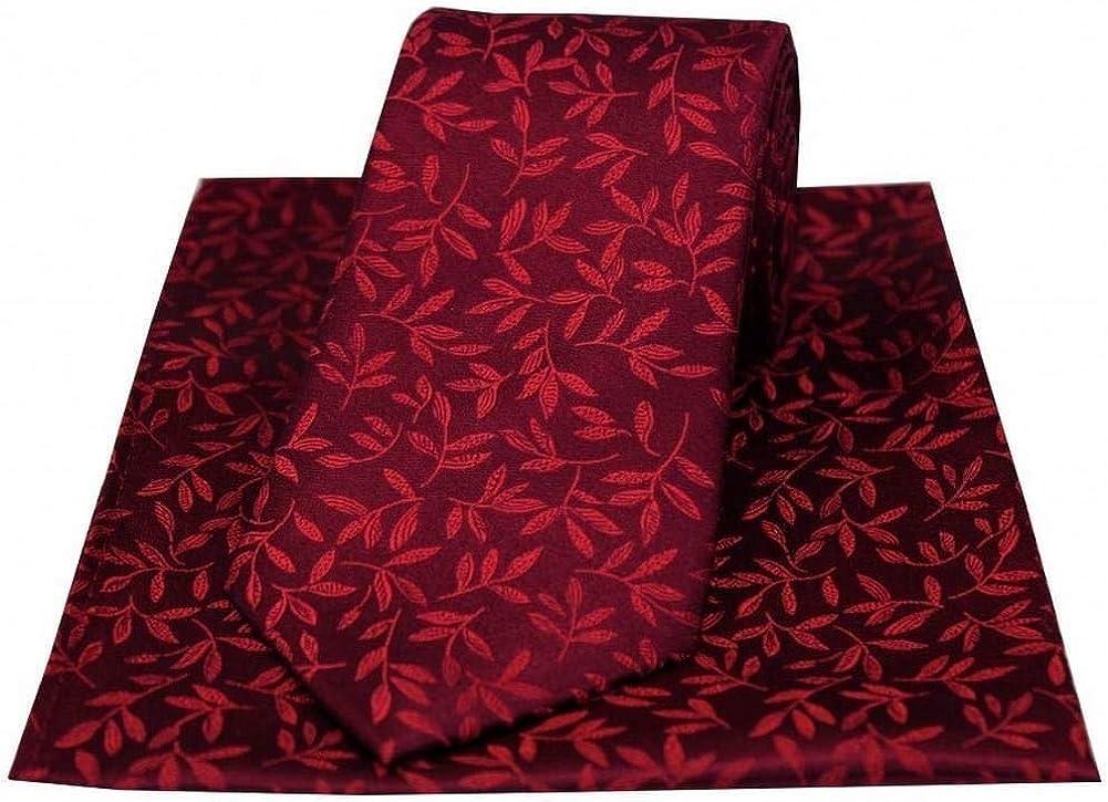 David Van Hagen Mens Leaf Tie Handkerchief Wine Excellent Tucson Mall - and Set