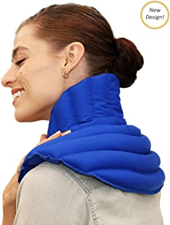 My Heating Pad Microwave Neck and Shoulder Heating Pad Plus  Neck Wrap Microwavable for Relief of Pain, Sore Muscles, Stress, Tension and Headaches   Neck and Shoulder Heating Pad (Blue Plus)