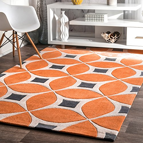nuLOOM Gabriela Contemporary Accent Rug, 2′ x 3′, Deep Orange