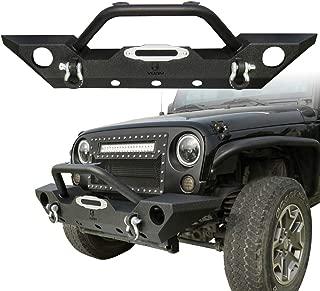 Vijay Front Bumper with | Original Fog Light Hole | D-Ring | for 2007-2018 Jeep Wrangler JK /JKU