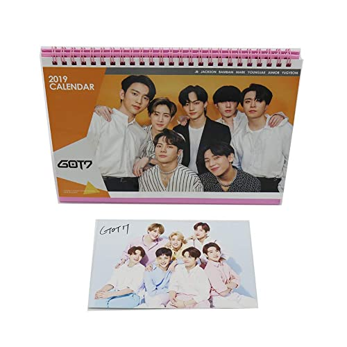 GOT7 Kpop 2019 Desk Calendar with Post Card and Sticker