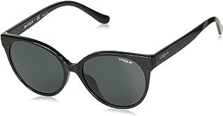 VOGUE Women's 0vo5246sf Round Sunglasses black 54.0 mm