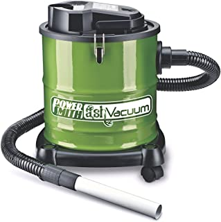PowerSmith PAVC101 10 Amp Ash Vacuum with Metal Lined Hose, Motor Filter, and Canister Filter for use with Fireplaces, Wood Stoves, Ash Collectors, and Pellet Stoves