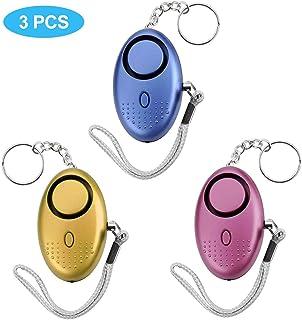 25152655bed Alarma Personal, 140DB Alarma Seguridad Autodefensa con Luz LED Llaveros de  Alarma, Niños,