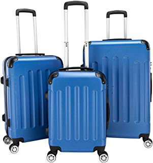 Ochine 3 Piece Set Suitcase Spinner Luggage Sets ABS Trolley Case Lightweight Durable Suitcase Double Wheels Suitcase Carr...
