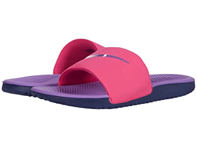 Nike Kids Kawa Slide (Little Kid/Big Kid) (Watermelon/Purple Nebula/Blackened Blue) Girls Shoes
