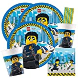 spielum 44-teiliges Party-Set Lego City - Teller B