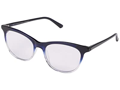 DIFF Eyewear Jade Blue Light (Navy Ombre) Fashion Sunglasses