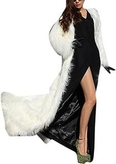 Best floor length white fur coat Reviews