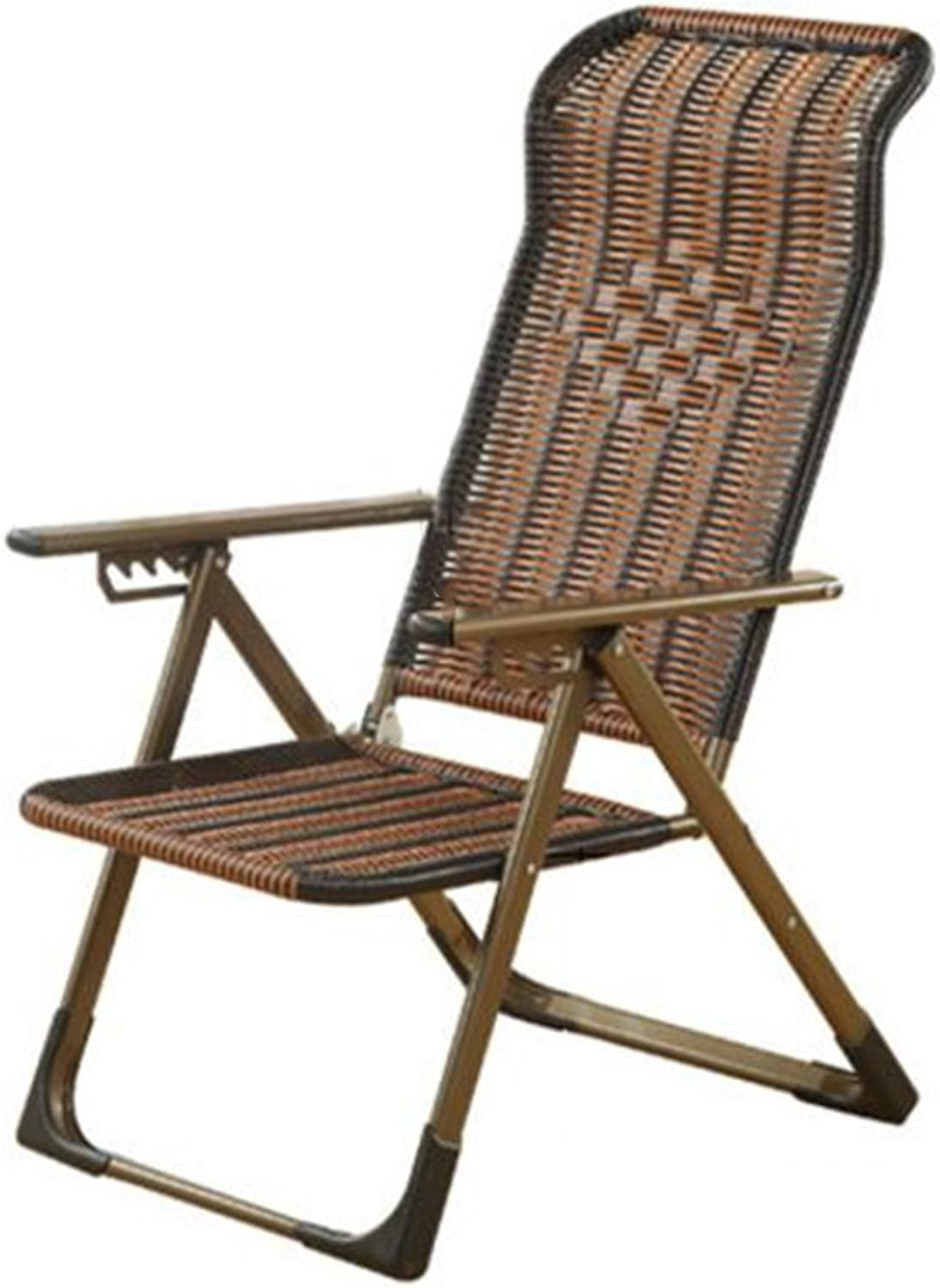 YAXIAO-Folding chair Folding Lounge Chair Lunch Break Couch Office Bed Recliner Back Lazy Chair Chair Balcony Beach Chair (color   Flat feet)