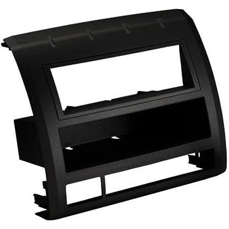 Scosche TA2052BLKB Compatible with 2005-11 Toyota Tacoma DIN w/Molded Pocket Dash Kit Black, Black