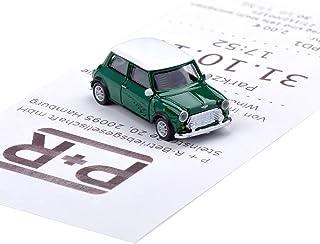 corpus delicti :: Magnetischer Parkscheinhalter für das Armaturenbrett – Modellauto mit Magnet und Selbstklebender Haftscheibe – Kultauto Mini Cooper British Racing Green (20.10 11)