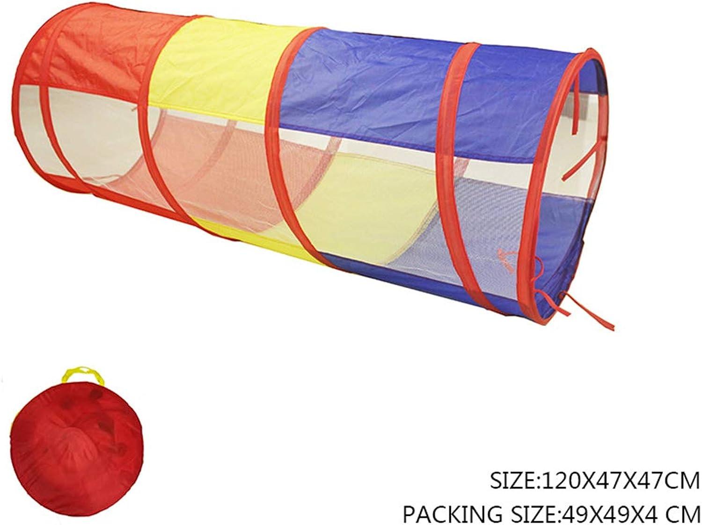 FUBULECY Zelt-Tunnel der Kinder, der tragbare magische Baby-Spielzeug-Raum-Bohrloch-Rohr-kletterndes Rohr, Sonnenlicht kriechender Tunnel (Farbe   Orange)