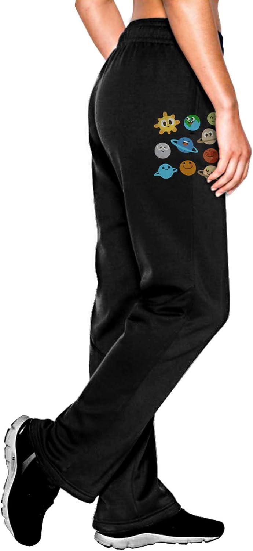 Vhlk07@P Womens Translated Cute Solar System Jogger Sweatpants Max 78% OFF Drawstring