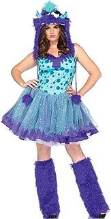 Womens 2 Piece Polka Dotty Monster Adult Plus Size Halloween Costume