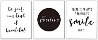 """Motivational Words Art Print Set of 4 (10""""X8"""") Typography Print,Office Decor with Inspirational Lettering Art Print, Canvas Painting Poster for Study, Wall Art Home Decor, No Frame"""