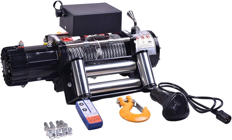 XZZ Cabestrante EléCtrico De 12V / 24V, Cabrestante UTV/ATV, con Cable De Acero Y Controles Remotos, Cabrestante Impermeable (3000lb / 3500lb / 4000lb / 4500lb)