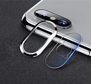 غطاء حماية عدسة الكاميرا الخلفية لجهاز ابل ايفون اكس اس ماكس  - فضي
