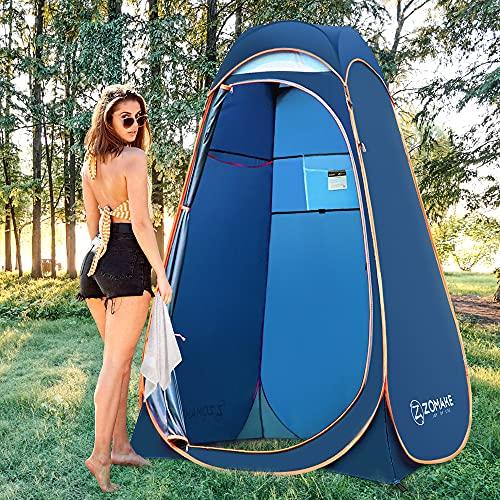 ZOMAKE tienda de campaña para la ducha, vestidor portátil para la privacidad, refugio para camping, playa al aire libre