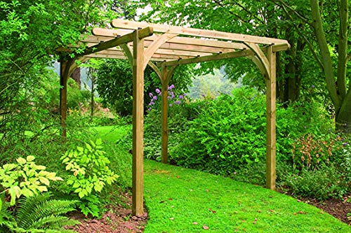 Leisure Traders Ultima Timber Wooden Garden Pergola – 2.7 x 2.7m