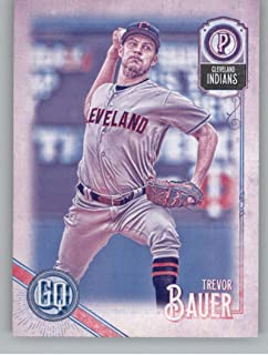 2018 Topps Gypsy Queen Missing Black Plate Baseball #245 Trevor Bauer Cleveland Indians Official MLB Trading Card From Topps