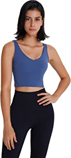 Sports Bra for Ladies, U Type Simplicity Breathable Comfy Yoga Gym Bras with Padded,Blue,4