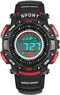 Beclgo Watch | Multi-Function 50M Waterproof Watch Digital Double Action Watch with Alarm Boys
